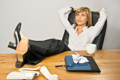 Lazy Beautiful Business Lady Stock Image