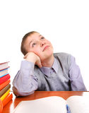 Lazy and Bored Schoolboy Stock Image