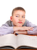 Lazy and Bored Schoolboy Stock Photo