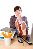 Lazy bored student, office worker, isolated Stock Photography