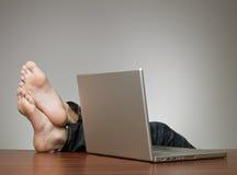 Lazy businessman Stock Photo