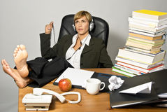 Lazy Businesswoman or Student Royalty Free Stock Images