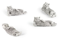 Lazy ceramic cat Stock Photo