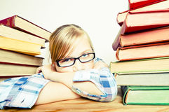 Lazy child Stock Images