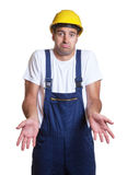 Lazy construction worker Royalty Free Stock Photos