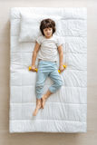 Lazy Cute Boy Having A Nap In The Morning Stock Photography