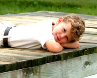 Lazy Day Boy Royalty Free Stock Photo