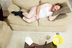 Lazy Day at Home royalty free stock photography