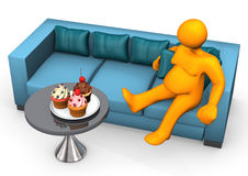 Lazy And Fat Cupcakes Royalty Free Stock Photo