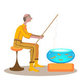 Lazy fishing. Stock Image