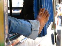 Lazy foot Stock Photos