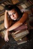 Lazy girl Stock Image