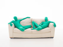 Lazy green faceless men Stock Image
