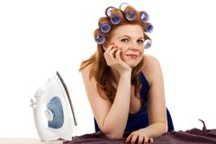 Lazy house wife Stock Photography