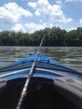 Lazy lake days. Kentucky kayak rides Royalty Free Stock Photo