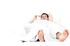 Lazy man Stock Images