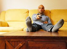 Lazy man stock image