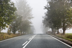 Lazy morning on the empty road Stock Photography