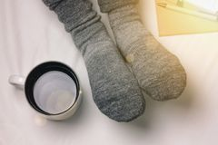 Lazy morning, Feeling warm concept Stock Images