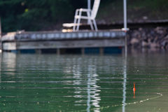 Lazy Morning Fishing. Fishing in the early morning on Smith Mountain Lake in Virginia royalty free stock images
