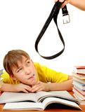Lazy and Naughty Schoolboy Stock Image