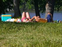 Lazy-picnic Royalty Free Stock Photos