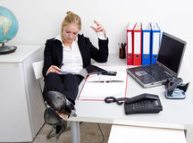 Lazy receptionist Stock Photo