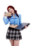 Lazy schoolgirl in closeup Stock Photography