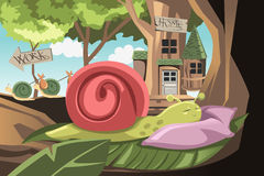 Lazy snail Royalty Free Stock Photography