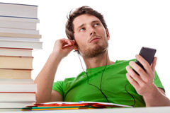 Lazy student chilling Stock Images
