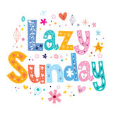 Lazy Sunday Royalty Free Stock Images