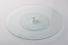 lazy susan or glass lazy susan on a background. stock image