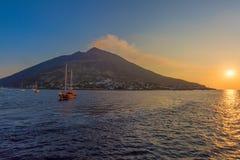 Lazy vulcano. In Aeolian islands, Italy Stock Image