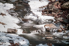Lazy Winter Stream Royalty Free Stock Photo