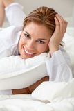 Lazy woman Royalty Free Stock Image