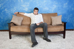 Lazy Young Man Royalty Free Stock Images