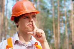Lazy young worker outdoors Stock Photo