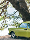 Lazy Yugoslavian retro car. In Perast, Montenegro Stock Image