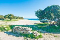 Lazzaretto beach under a clear sky Royalty Free Stock Photo
