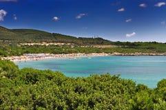 Lazzaretto strand på Alghero, Sardinia, Italien Royaltyfria Bilder
