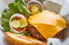 1/2 LB łosia hamburger Fotografia Stock