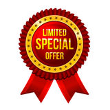 Lbel limitó oferta especial con vector de las cintas libre illustration