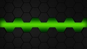 lblack και πράσινο hexagons σύγχρονο ilustration υποβάθρου Στοκ Εικόνες