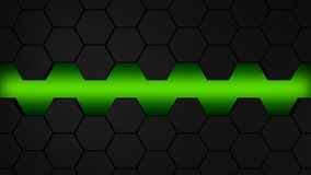 Lblack and green hexagons modern background ilustration. Black and green hexagons modern background illustration Stock Images