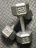 25 lbs-Barbells Lizenzfreie Stockfotografie