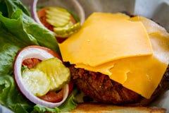 1/2 lbs Elch-Burger Lizenzfreies Stockbild