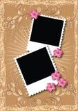 Álbum de foto de la disposición de paginación Imagen de archivo