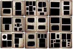 Álbumes de foto viejos fijados Imágenes de archivo libres de regalías