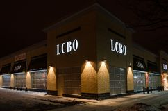 LCBO Store in Toronto, Ontario Stock Photo