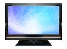 LCD在白色背景隔绝的电视显示器 免版税库存照片